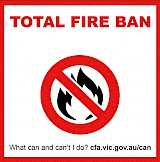 Total Fire Ban Wednesday.